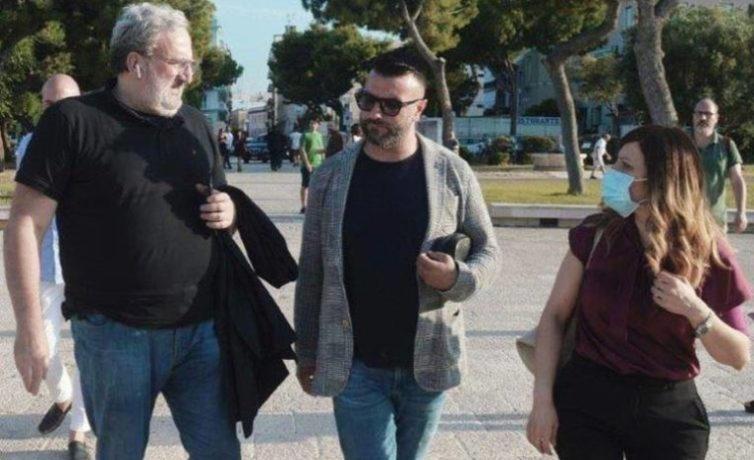 Giuseppe Tupputi e Michele Emiliano a Barletta #1