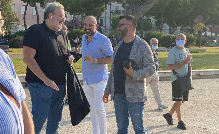 Giuseppe Tupputi e Michele Emiliano a Barletta #3